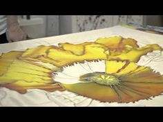 Silk Painting with Anne Anderson - YouTube - Wax Batik - Jacquard  - Steam set