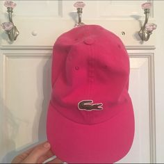 Lacoste Cap Hot pink cap. Brand new, never worn. Adjustable velcrow in the back. Lacoste Accessories Hats