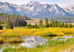 Sawtooth Mountain range, near Stanley, Idaho