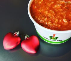 Come enjoy a perfect relationship ~ Chicken and Rice in a piping hot Tomato soup! #MixedUpCup #perfectpair #freshsoup