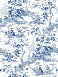 A classic toile with a Chinoiserie look