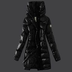 Cheap Moncler Down Coats Women Style Black DC301503 UK