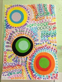 Lines Art For Kids ` Lines Kids Art - Actividades de Kindergarten Para Niños Arte Elemental, Art For Kids, Crafts For Kids, Kindergarten Art Lessons, Dot Day, Kids Line, Ecole Art, Spring Art, Arts Ed