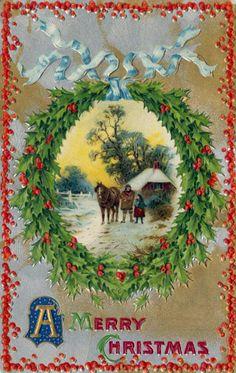 Mejores 75 Imagenes De Postales De Navidad En Pinterest Vintage - Vintage-navidad