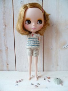 Beachwear for Blythe by LouiseCaroline on Etsy, $28.00  (Reminds me of granddaughter Katy)