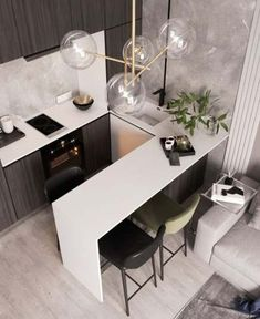 Ideas Home Remodel Kitchen Layout Interior Design - You are in the right place about minimalist kitchen Here we offer you the most beautiful pictures - Kitchen Layout Interior, Modern Kitchen Interiors, Home Decor Kitchen, Kitchen Living, Home Kitchens, Interior Modern, Room Kitchen, Kitchen Ideas, Dining Room