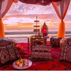 Tea time in the desert at Marrakesh Hua Hin Resort #Morocco