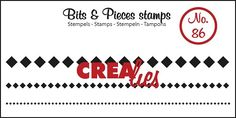 Bits & Pieces stempel/stamp no. 86 3x squares in a row