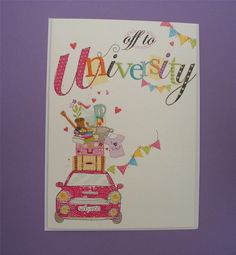 You re off to / Going to / Good Luck at Uni University Card (ABG)