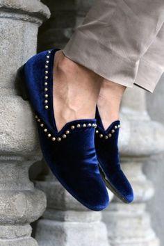 2d93221d29ee Crush velvet Navy Espadrilles Shoes Velvet Shoes