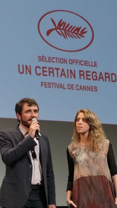 Alex Brendemühl (actor) and Lucia Puenzo (director) for the film Wakolda #CANNES2013