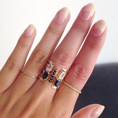 Mirlo stacked rings