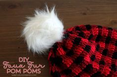 I was crocheting this pretty awesome plaid hat(pattern by Whistle and Ivy), when I realized a fur pom pom would look pretty cool on top. But two of my local craft stores didn't have any in s…