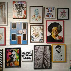 Meus quadros da Frida e Nosso amor em paz