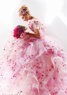Pink color wedding dresses. This would be lovely for a second marriage. http://www.iwedplanner.com/wedding-dresses-and-attire/