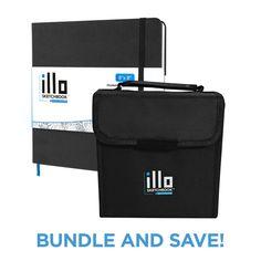 illo sketchbook   Artist Preferred Square Sketchbooks — illo sketchbook Classic + illo HUE Markers Bundle
