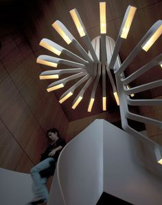 Spiral Staircase Lighting by .PSLAB