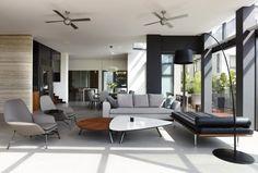 couleur salon table basse blanche et fauteuils avec ottoman