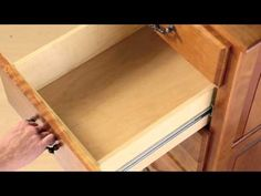 Choosing the Right Drawer Slide / Rockler How-to... Whether you're updating your kitchen or outfitting new cabinetry, selecting the right drawer slide can seem like a daunting task. How do you choose from all the options? Here's a quick introduction to the basic characteristics of slides, as well as some of the features and benefits of different types of slides.  Figuring out what you want in each category will help streamline your search.
