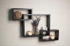 Danya B. Intersecting Boxes Espresso Color Wall Hanging Shelf Storage Home Decor #DanyaB #Modern