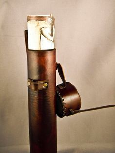 Brown Leather Scroll Case / Holster by IsilWorkShop on Etsy