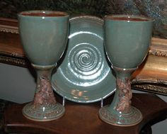 Little Bear Clayworks: Wheel Thrown Pottery Communion Sets