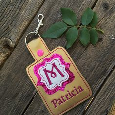 New to babymoon on Etsy: Customized Personalized Sparkle Quatrefoil luggage tags diaper bag tags backpack dangle clip on add a first name or last name extra large XL (20.00 USD)