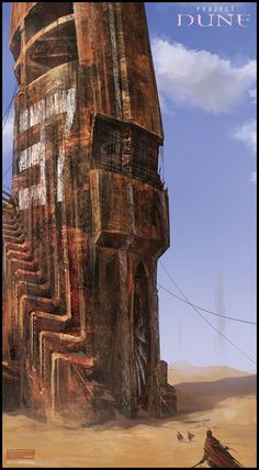 Mark Molnar - Sketchblog of Concept Art and Illustration Works: Project Dune: Abandoned Geo Towers
