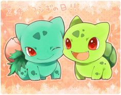 Ivysaur and shiny Bulbasaur I Play Pokemon Go, Baby Pokemon, Pokemon Bulbasaur, Pokemon Manga, Pokemon Fan Art, Type Pokemon, Cute Pokemon Pictures, Pokemon Images, Anime Chibi