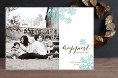 Delicate Snow Christmas Photo Cards by Lehan Veenker at minted.com