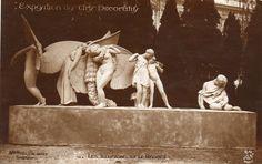 1925 Paris Exposition Des Arts Decoratifs Illusions et Regret Real Photo PC rppc Paris France, Lightning Flash, Steampunk Fashion, Gotham, Art Decor, Exotic, The Past, Sculptures, Photos
