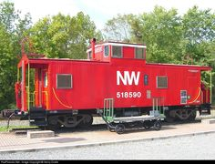 RailPictures.Net Photo: NW 518590 Norfolk & Western N&W Caboose at Clifton, Virginia by Henry Dralle
