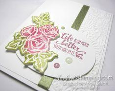 Stampin' Up! Petal palette emboss resist - white 3