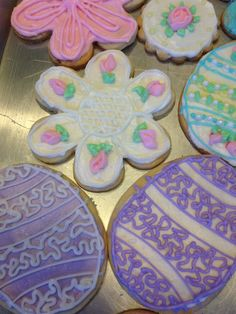 Easter decorated cookies. Made by Sarah DiGloria and friend Meli.