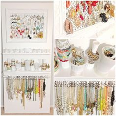 Jewelry Organization Love the all white, really displays the colours well
