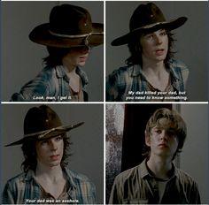 TWD season 6, episode 8. Carl is so badass! The Walking Dead.