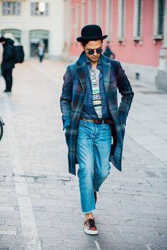 Fashion Week homme Street looks Milan automne hiver 2016 2017 26