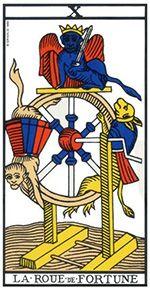 La Roue de Fortune fait la liaison entre le terrestre et le spirituel, entre le ciel et la terre.