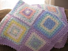 Ideal Delusions: Box Stitch Afghans ~ free pattern