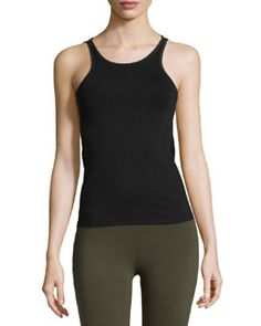 Shop Mesh-Trim Performance Tank, Black from Solow at Neiman Marcus Last Call, where you'll save as much as on designer fashions. Gym Essentials, Last Call, Clearance Sale, Neiman Marcus, Athletic Tank Tops, Mesh, Shopping, Black, Women