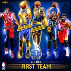 The All-NBA First team: Steph Curry, James Harden, LeBron James, Anthony Davis & Marc Gasol! Basketball Playoffs, Basketball Legends, Curry Nba, Marc Gasol, Air Max Classic, Nike Design, Memphis Tigers, Love And Basketball, Basketball Tips