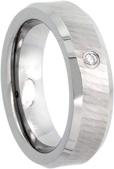 0.72Ct Sterling Silver Mens Wedding Ring Black and White CZ Size 3 to 15 in 1//4 Size Intervals