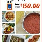 25 Meals for under $150 at Aldi