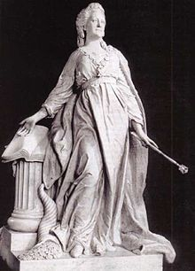 Marble statue of Catherine II (Catherine the Great) in the guise of Minerva (1789–1790), by Fedot Shubin.