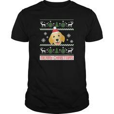 Golden Retriever Santa Snow Christmas TShirt TShirts  Mens TShirt
