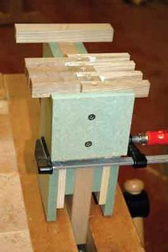 The jig can also be used with a hand-held router