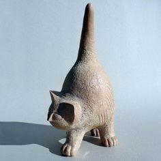 Sculptures Céramiques, Paper Mache Sculpture, Pottery Sculpture, Stone Sculpture, Pottery Animals, Ceramic Animals, Clay Animals, Paper Mache Animals, Clay Cats