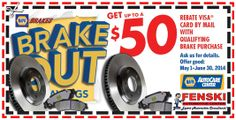 Fenski Automotive Center | Auto Repair and Maintenance Service in Sugar Hill, GA Brakes Coupon Expires 6/30/14