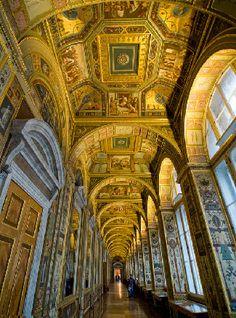 Rafael Loggias - copy of historic interiors of the Vatican at the Hermitage Museum in St Petersburg, Russia