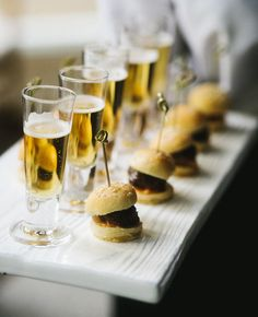 Upon arrival guests will be ushered up the stairs and will follow the red carpet into the foyer area, here they'll be served canapés and all different types of alcoholic and non-alcoholic beverages.